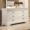 Louis Philippe 204 6 Drawer Dresser