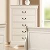 Louis Philippe 204 White 5 Drawer Chest