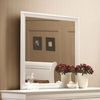 Louis Philippe 204 White Beveled Edge Square Mirror
