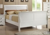 Open Box Louis Philippe 204 White Finish Full Sleigh Style Bed