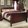 Louis Philippe King Sleigh Panel Bed