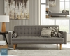 Luske Modern Sofa Bed with Contrast Piping
