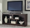 Macy Transitional TV Stand with Open Shelves
