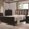 Madison Eastern King Bed with Upholstered Headboard