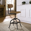 MARK WOOD BAR STOOL IN BROWN