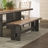 Marquette Live Edge Dining Table Set with Bench by Scott Living