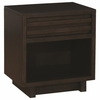 Matheson Contemporary Nightstand with Finger Tip Drawer