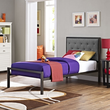 MIA TWIN FABRIC BED