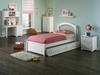 Miyamoto Twin Size Platform Bed with Raised Panel Footboard