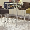 Modern Bar Height Table with Glass Top