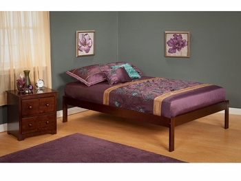 Modern Concord Platform bed Open Foot rail Furniture