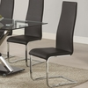 Modern Dining Black Faux Leather Dining Chair with Chrome Legs