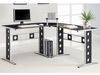 Modern L Shape Desk Glass Furniture Stores