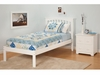 Modern Mission Twin Size Platform bed Open Foot rail Furniture