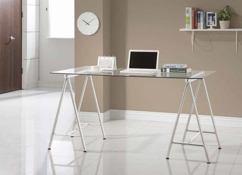 Modern Nickel writing desk