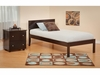 Modern Orlando Full Size Platform bed Open Foot Rail Furniture