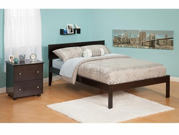 Modern Orlando Platform bed Open Foot rail Furniture