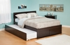 Modern Orlando Twin Size Platform bed Flat Panel with Trundle Bed Furniture