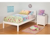 Modern Orlando Twin Size Platform bed open Foot Rail Furniture