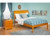 Modern Portland Full Size Platform bed Open Foot Rail Furniture