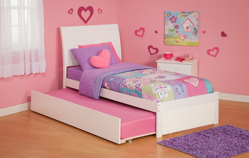 Urban lifestyle portland twin size platform bed flat panel for Kids twin size bed frame