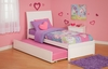 Modern Portland Twin Size Platform bed Flat Panel with Trundle Bed Furniture