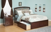 Modern Richmond King Size Platform bed Flat Panel with 2 Drawers Furniture