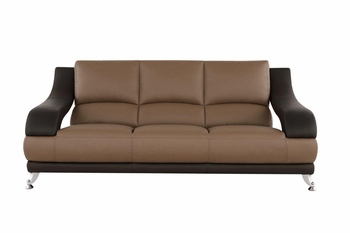 Modern Sofa U982 Tan and Brown