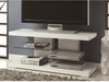 2-Shelf TV Console Glossy White # 700824