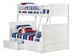 Twin/full White Nantucket Bunk Bed Atlantic Furniture