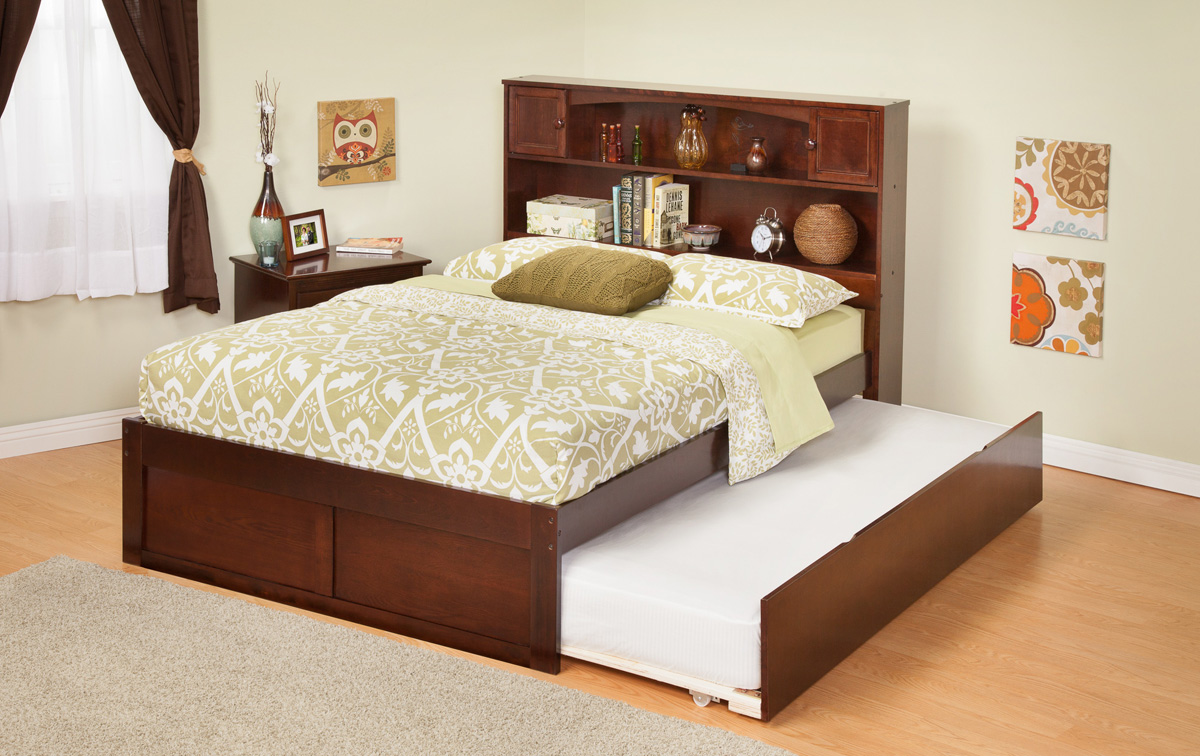 contemporary newport bookcase twin size platform bed flat panel