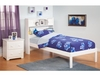 Modern Twin Size Newport Bookcase Platform bed Open Foot rail Furniture