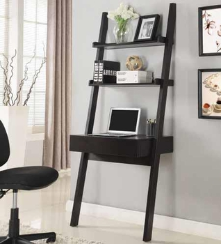 Modern writing desk with shelf # 801373