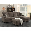 Moxie Chocolate Sectional Sofa with Sleeper