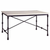 Nagel Industrial Dining Table with Faux Marble Top