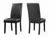 Nagel Parsons Black Leatherette Side Chair