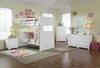 Nantucket Full/Full White Bunk Bed Children Atlantic Bedroom Furniture