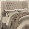 Newburgh Queen Upholstered Demi-Wing Headboard with Button Tufting