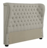 Newburgh Twin Upholstered Demi-Wing Headboard with Button Tufting
