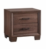 Brandon 2-Drawer Nightstand Medium Warm Brown # 205322