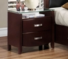 Nightstand with glass top Furniture