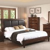 Noble King Panel Bed with Upholstered Headboard