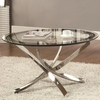 702588 Cocktail Table w/ Tempered Glass Top