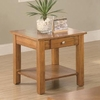 Occasional Group End Table with Drawer and Base Shelf