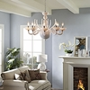 OCTOPUS ACRYLIC CHANDELIER IN WHITE