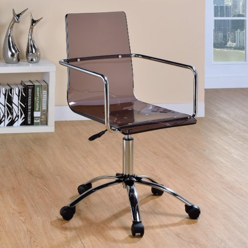 Office Chairs Acrylic Office Chair with Steel Base : acrylic desk chairs - Cheerinfomania.Com