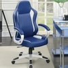 Office Chairs Computer Chair with Blue Faux Upholstery