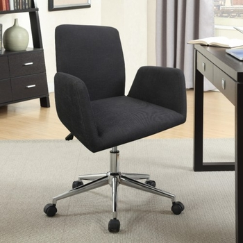 Office Chairs Sleek Office Chair with Fabric Seat and Back