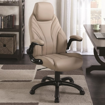 Office Chairs Tan Leatherette Office Chair