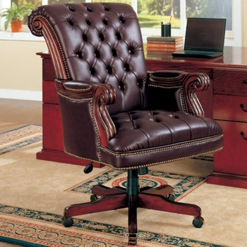 Office Chairs Traditional Leather Executive Chair 800142